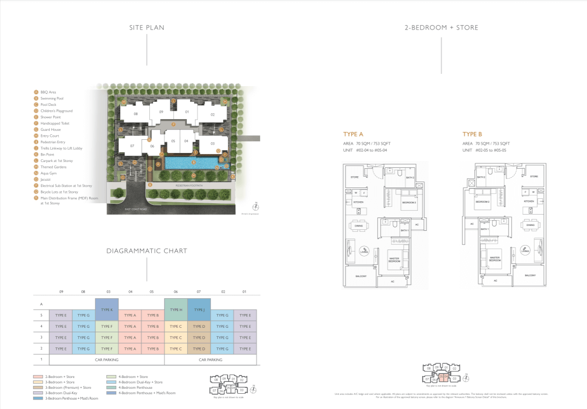 Floor plan of infini at east coast - 2 Bedroom Floorplan & sitemap(eastcoast-infini.com)