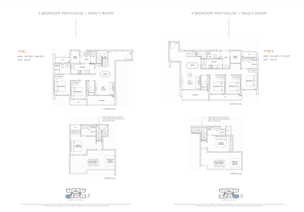 Floor plan of infini at east coast - 3 Bedroom Penthouse & 4 Bedroom Penthouse Floorplan (eastcoast-infini.com)